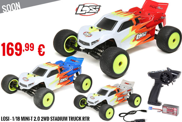 Soon - Losi - 1/18 Mini-T 2.0 2WD Stadium Truck RTR