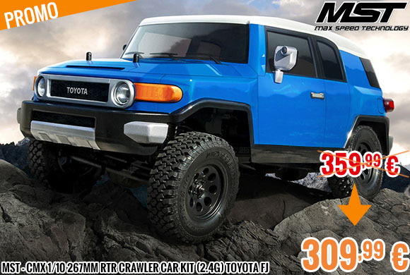 Promo - MST - CMX 1/10 267mm RTR Crawler car kit (2.4G) Toyota FJ