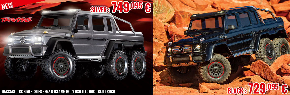 New - Traxxas - TRX-6 Mercedes-Benz G 63 AMG Body 6X6 Electric Trail Truck