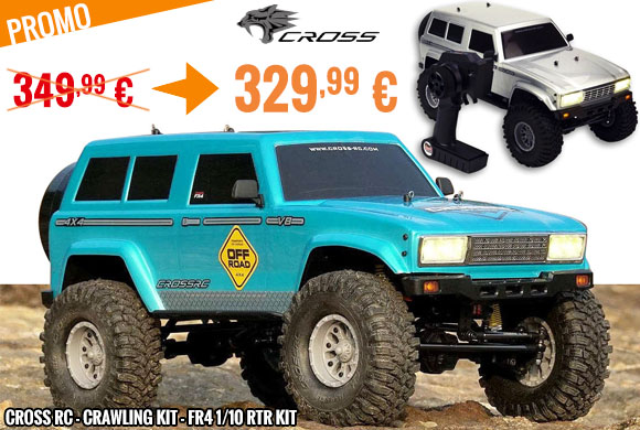 Promo - Cross RC - Crawling kit - FR4 1/10 RTR kit