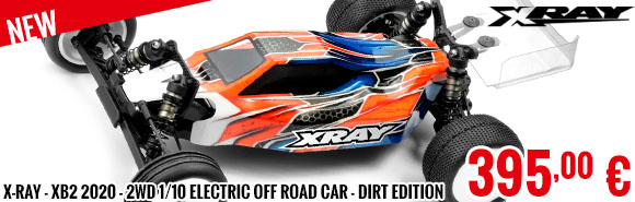 New - X-Ray - XB2 2020 - 2WD 1/10 Electric Off Road Car - Dirt Edition