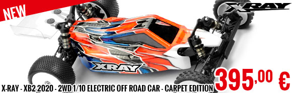 New - X-Ray - XB2 2020 - 2WD 1/10 Electric Off Road Car - Carpet Edition