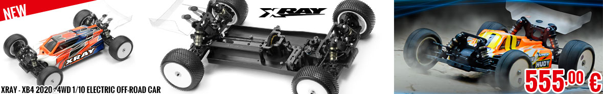 New - XRay - XB4 2020 - 4WD 1/10 Electric Off-Road Car