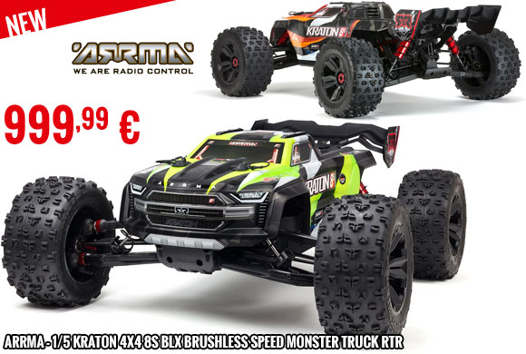 New - Arrma - 1/5 KRATON 4X4 8S BLX Brushless Speed Monster Truck RTR