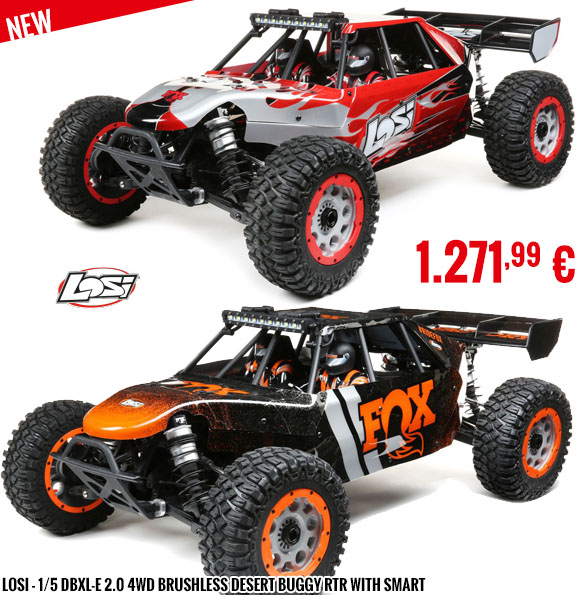 New - Losi - 1/5 DBXL-E 2.0 4WD Brushless Desert Buggy RTR with Smart