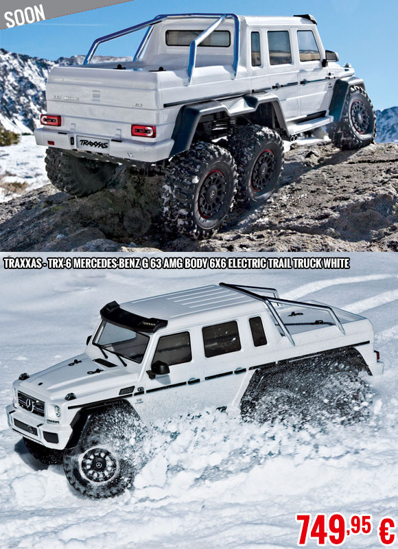 Soon - Traxxas - TRX-6 Mercedes-Benz G 63 AMG Body 6X6 Electric Trail Truck White