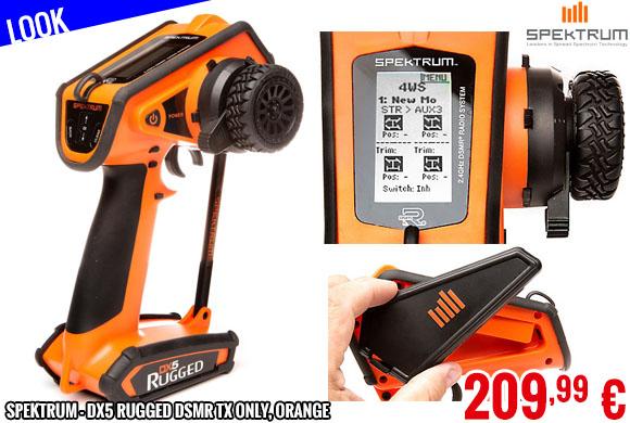 Look - Spektrum - DX5 Rugged DSMR TX Only, Orange