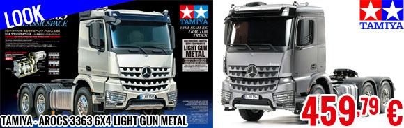 Look - Tamiya - Arocs 3363 6x4 Light Gun Metal
