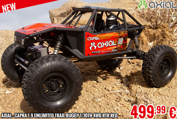 New - Axial - Capra 1.9 Unlimited Trail Buggy 1/10th 4wd RTR Red