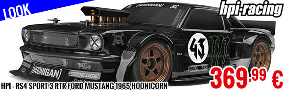 Look - HPI - RS4 Sport 3 RTR Ford Mustang 1965 Hoonicorn