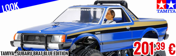 Look - Tamiya - Subaru Brat Blue Edition