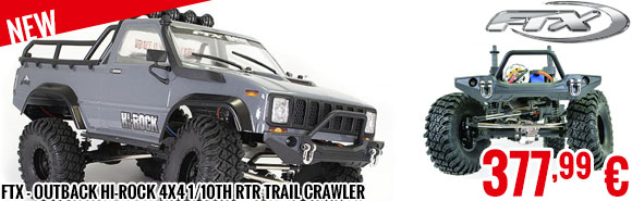 New - FTX - Outback Hi-Rock 4x4 1/10th RTR Trail Crawler