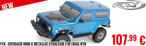 New - FTX - Outback MINI X Metallic Cyan Cub 1:18 Trail RTR
