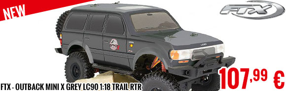 New - FTX - Outback MINI X Grey LC90 1:18 Trail RTR