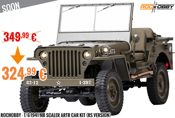 Soon - RocHobby - 1/6 1941 MB Scaler ARTR car kit (RS version)