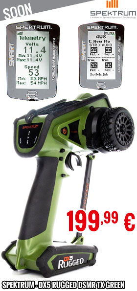 Soon - Spektrum - DX5 Rugged DSMR TX Green