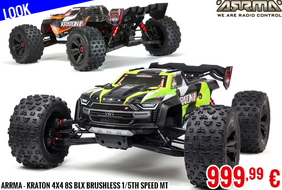 Look - Arrma - Kraton 4X4 8S BLX Brushless 1/5th Speed MT