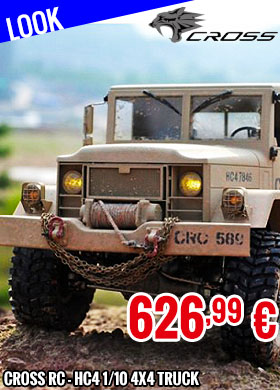 Look - Cross RC - Crawling kit - HC4 1/10 4x4 Truck