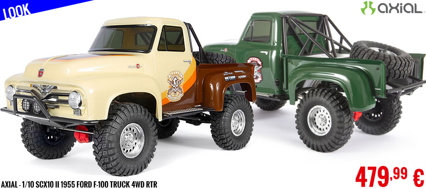 Look - Axial - 1/10 SCX10 II 1955 Ford F-100 Truck 4WD RTR