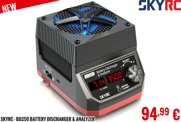 New - SkyRC - BD250 Battery Discharger & Analyzer