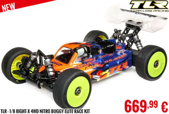 New - TLR - 1/8 8IGHT-X 4WD Nitro Buggy Elite Race Kit