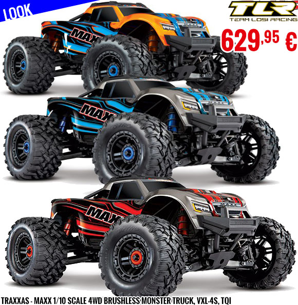 Look - Traxxas - Maxx 1/10 Scale 4WD Brushless Monster Truck, VXL-4S, TQi
