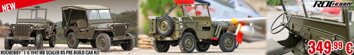 New - RocHobby - 1/6 1941 MB scaler RS pré-build car kit