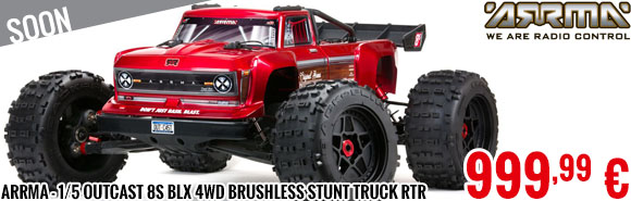 Soon - Arrma - 1/5 OUTCAST 8S BLX 4WD Brushless Stunt Truck RTR