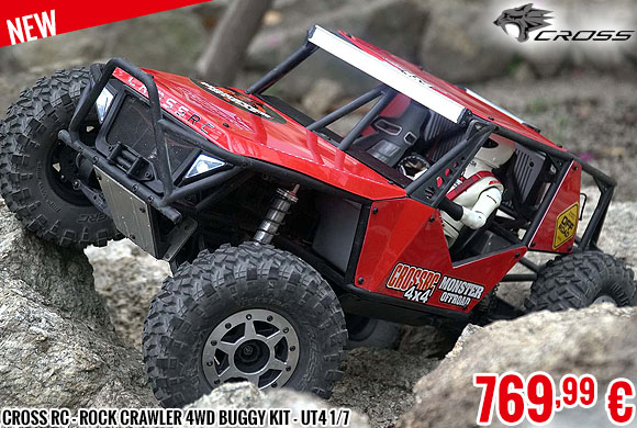 New - Cross RC - Rock Crawler 4wd buggy kit - UT4 1/7