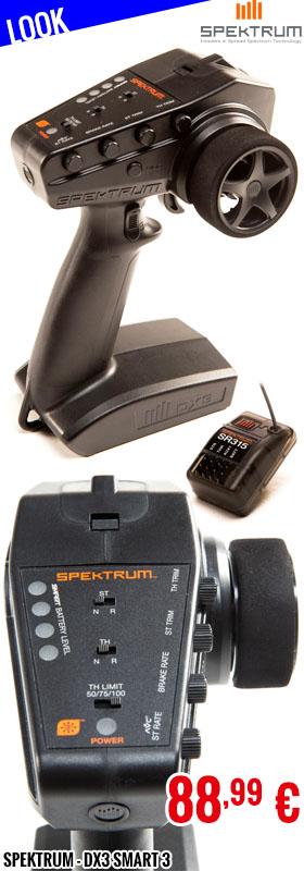 Look - Spektrum - DX3 Smart 3-Channel Transmitter with SR315 Receiver