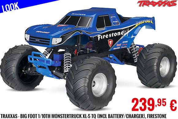 Look - Traxxas - Big Foot 1/10th Monstertruck XL-5 TQ (incl battery/charger), Firestone