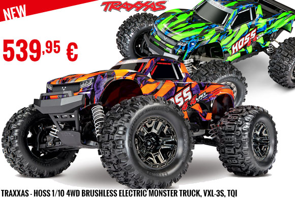 New - Traxxas - Hoss 1/10 4WD Brushless Electric Monster Truck, VXL-3S, TQi