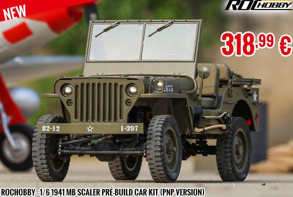 New - RocHobby - 1/6 1941 MB scaler pré-build car kit (PNP version)