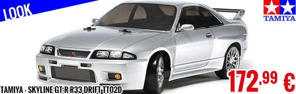 Look - Tamiya - Skyline GT-R R33 drift TT02D