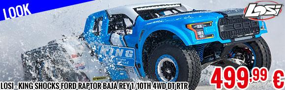 Look - Losi - King Shocks Ford Raptor Baja Rey 1/10th 4wd DT RTR