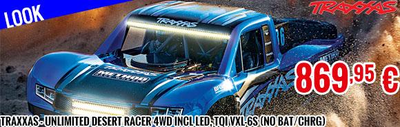 Look - Traxxas - Unlimited Desert Racer 4WD incl LED, TQi VXL-6S (no bat/chrg)