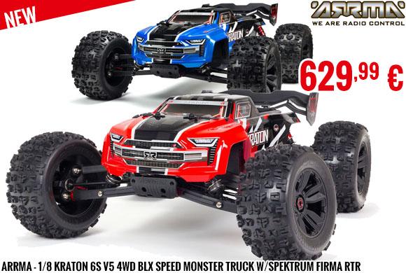 New - Arrma - 1/8 KRATON 6S V5 4WD BLX Speed Monster Truck w/Spektrum Firma RTR