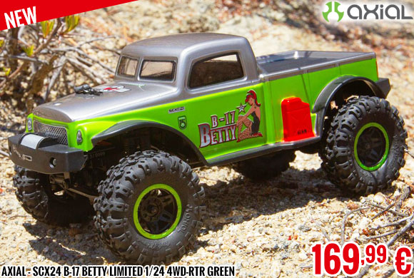 New - Axial - SCX24 B-17 Betty Limited 1/24 4WD-RTR Green