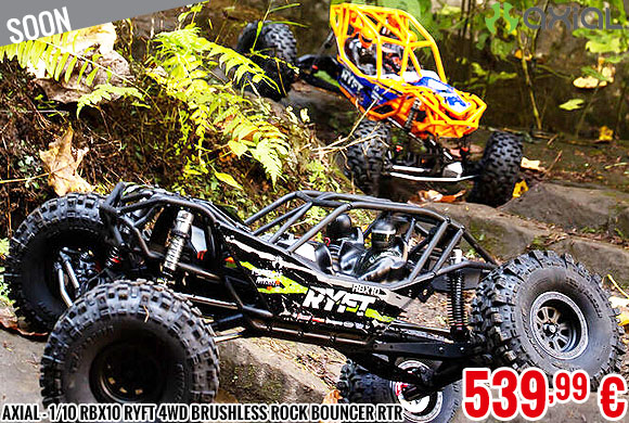 Soon - Axial - 1/10 RBX10 Ryft 4WD Brushless Rock Bouncer RTR