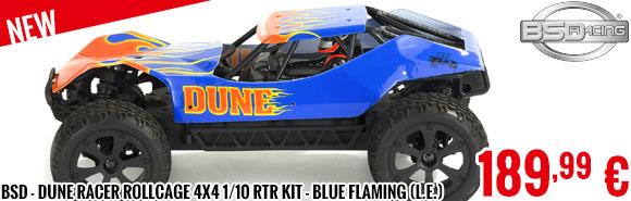 New - BSD - Dune Racer Rollcage 4x4 1/10 RTR Kit - Blue Flaming (limited ed.)