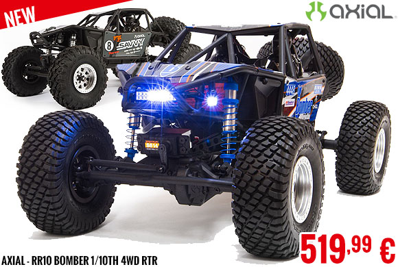 New - Axial - RR10 Bomber 1/10th 4wd RTR