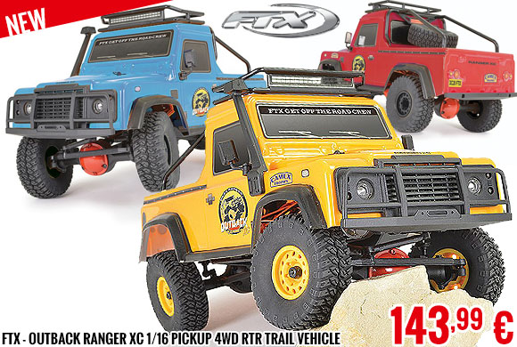 New - FTX - Outback Ranger XC 1/16 Pickup 4wd RTR Trail Vehicle
