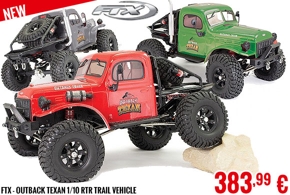 New - FTX - Outback Texan 1/10 RTR Trail Vehicle