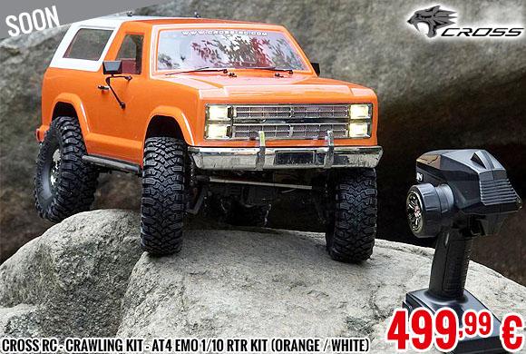 Soon - Cross RC - Crawling kit - AT4 EMO 1/10 RTR Kit (orange / white)