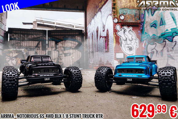 Look - Arrma - Notorious 6S 4WD BLX 1/8 Stunt Truck RTR