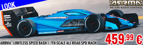 Look - Arrma - Limitless Speed Bash 1/7th Scale All-Road Spd Mach