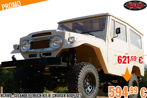 Promo - RC4WD - Gelande II Truck Kit w/Cruiser Body Set