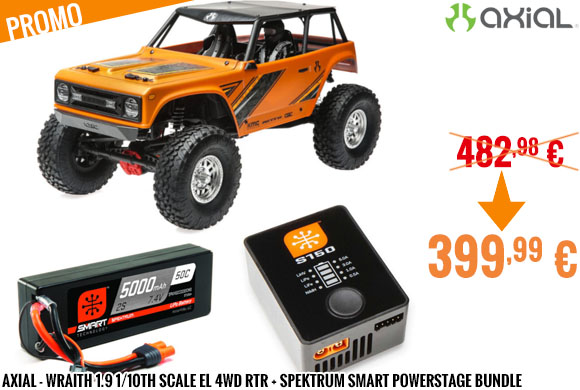 Promo - Axial - Wraith 1.9 1/10th Scale El 4wd RTR + Spekt. Smart PowerStage B