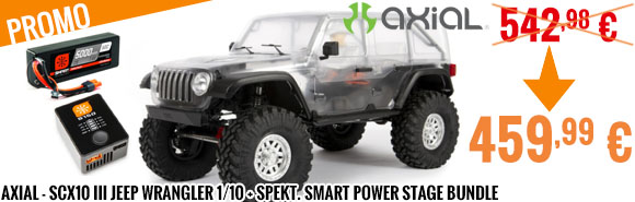 Promo - Axial - SCX10 III Jeep Wrangler 1/10 + Spekt. Smart Power Stage Bundle