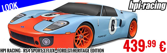 Look - HPI Racing - RS4 Sport 3 Flux - Ford GT Heritage Edition